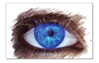 Eyeland Collection Poster Electric Blue