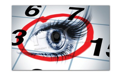 Eye Exam Calendar Post Card